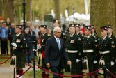 Gordon Campbell with Troops on Parade London April 2015