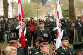 CO of the CScotR LCol Awalt between colors on Parade London Apr 2015