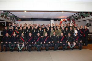 Christmas Photo of Those Attending Soldiers Dinner 2018
