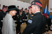 Princess Alexandra with LCol Stedeford, MWO Newcombe Cdn House Apr 2015