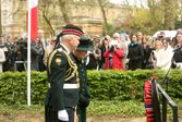 Princess Alexandra and LCol Stedeford Laying Wreath Apr 2015 London