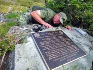 MCpl Byrne Mounting Replacement Plaque Schjelderup Lake Aug 2018