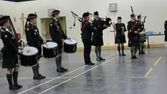 Xmas Dinner Nanaimo 2015 - Pipes and Drums Playing for the Regiment.