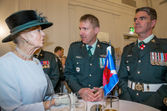 Princess Alexandra with MWO Newcombe, Capt McDonald Cdn House Apr 2015