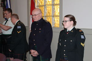 Ceremonial Portion of Dinner - Padre Nettleton and Cpl Maguire