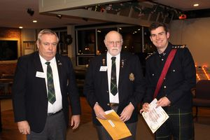 Bursary Award - Capt Rippon, presented by Jack Amo and Ron Cullen of the Regimental Association
